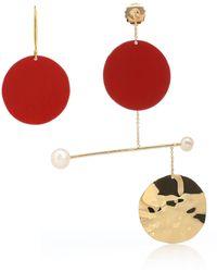 Anissa Kermiche - X Rejina Pyo Mobile Rouge 18 Karat Gold-plated Earrings - Lyst
