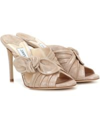 Jimmy Choo | Keely 100 Suede Sandals | Lyst