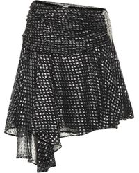 Dodo Bar Or - Silk Fil Coupé Miniskirt - Lyst