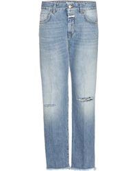 Closed - Jay Mid-rise Boyfriend Distressed Jeans - Lyst