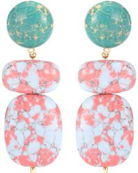 Lele Sadoughi - Boulder Drop Marble Earrings - Lyst