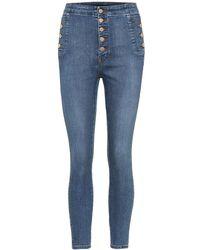 J Brand - Jeans skinny Natasha a vita alta cropped - Lyst