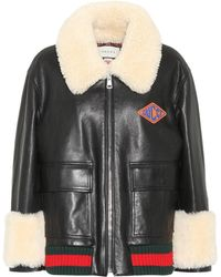 Gucci - Shearling-lined Leather Jacket - Lyst