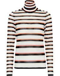 Missoni - Striped Turtleneck Sweater - Lyst