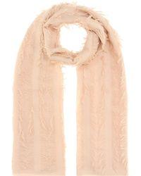 Chloé - Fringed Wool Scarf - Lyst