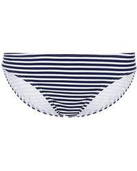 Tory Burch - Striped Bikini Briefs - Lyst