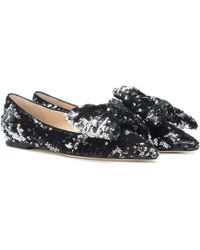 Jimmy Choo - Gilly Sequined Ballet Flats - Lyst