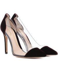 Gianvito Rossi - Plexi 105 Velvet Court Shoes - Lyst