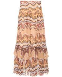 Chloé | Exclusive To Mytheresa. Com – Printed Silk-crepon Skirt | Lyst
