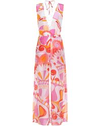 Emilio Pucci | Silk And Cotton Printed Jumpsuit | Lyst