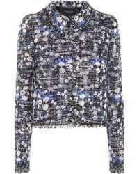 Giambattista Valli Floral Tweed Jacket - Multicolour