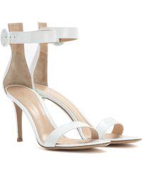Gianvito Rossi - Exclusive To Mytheresa – Portofino Patent Leather Sandals - Lyst