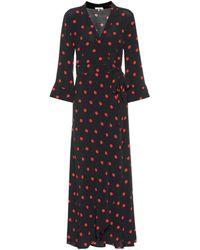 c1e28828f0 Ganni - Barra Crêpe Wrap Maxi Dress - Lyst