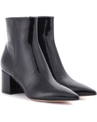 Gianvito Rossi Leather Ankle Boots - Black