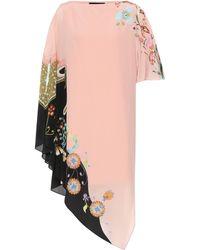 Etro - Bedrucktes Kleid aus Seide - Lyst