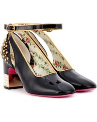 Gucci - Studded Patent-leather Pumps - Lyst