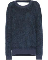Mugler - Mohair And Wool-blend Jumper - Lyst