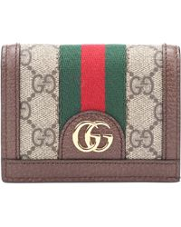 Gucci - Ophidia GG Leather Wallet - Lyst