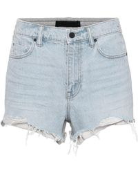 T By Alexander Wang | Denim And Cotton Shorts | Lyst
