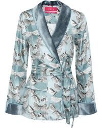 For Restless Sleepers - Armonia Printed Silk Jacket - Lyst