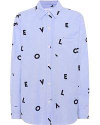 Current/Elliott - The Derby Stretch-cotton Shirt - Lyst