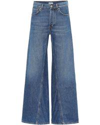 Ganni - Jeans flared de tiro alto - Lyst