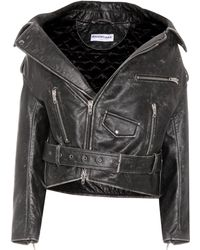 Balenciaga - Vintage Swing Leather Biker Jacket - Lyst