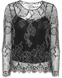 Huishan Zhang - Piper Embroidered Lace Top - Lyst