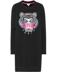 KENZO - Tiger Logo Sweatshirt Dress - Lyst