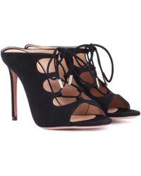 Aquazzura - Flirt 105 Suede Sandals - Lyst