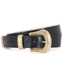 Balmain - Cintura in pelle stampata - Lyst