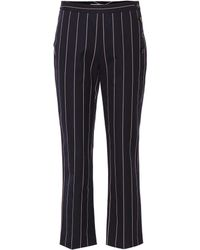 Victoria, Victoria Beckham - Cropped Cotton Trousers - Lyst