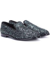 Jimmy Choo - Marlo Glitter Loafers - Lyst
