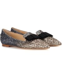 Jimmy Choo - Exclusive To Mytheresa. Com – Gala Glitter Ballerinas - Lyst