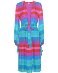 Etro - Striped Silk Dress - Lyst