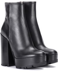 Jil Sander - Leather Plateau Ankle Boots - Lyst