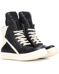 Rick Owens - Geobasket Leather High-top Sneakers - Lyst
