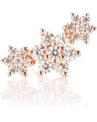 Maria Tash - Boucle d'oreille unique Diamond Flower Garland en or rose 18 ct et diamants - Lyst