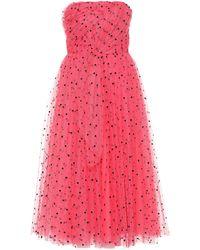 Carolina Herrera - Vestido de tul con motivo de corazones - Lyst