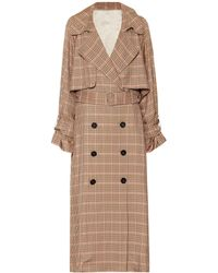 Golden Goose Deluxe Brand - Vela Checked Trench Coat - Lyst