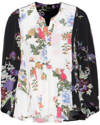 Isabel Marant - Ivia Floral-printed Silk Blouse - Lyst