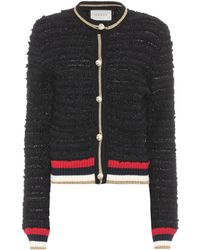 Gucci - Cotton-blend Tweed Cardigan - Lyst