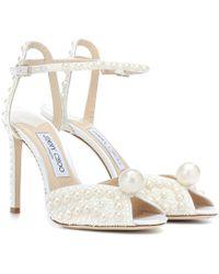 Jimmy Choo - Sacora 100 Embellished Sandals - Lyst