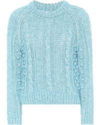 ALEXACHUNG - Cotton And Wool-blend Sweater - Lyst
