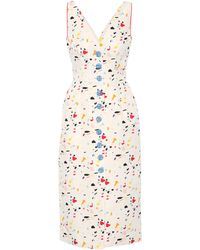 Carolina Herrera - Printed Cotton-blend Dress - Lyst