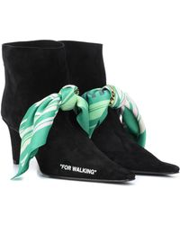 """Off-White c/o Virgil Abloh - For Walking"""""""" Suede Ankle Boots"""" - Lyst"""