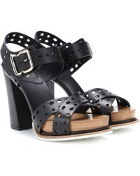 Tod's - Plateau Leather Sandals - Lyst