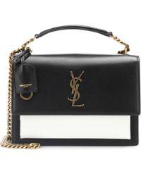 d445cf0971b4 Lyst - Saint Laurent Monogram Université Medium Leather Shoulder Bag ...