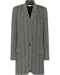 Stella McCartney - Herringbone Wool-blend Coat - Lyst