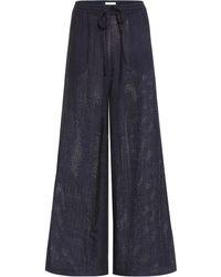 Marysia Swim - Montauk Cotton Trousers - Lyst